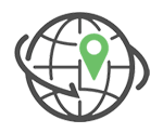 seo icon clipart with planet image and pin