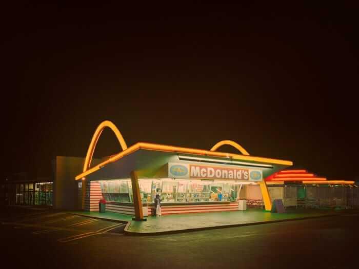 Mcdonalds stand